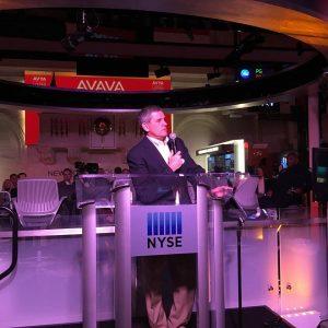 Avaya CEO at NYSE