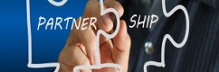 partnership written puzzle pieces