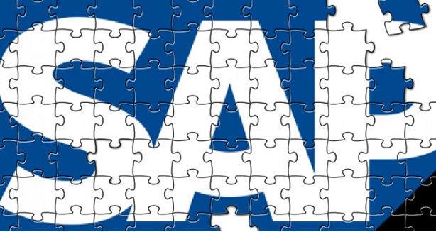 SAP logo puzzle