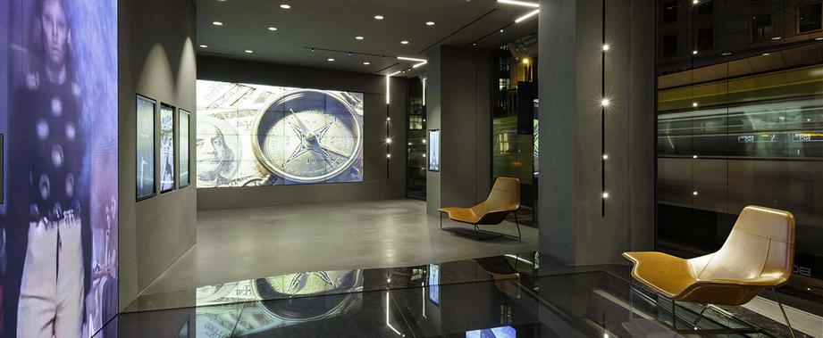 Vista sullo spazio Bou-Tek di Mauden a Milano