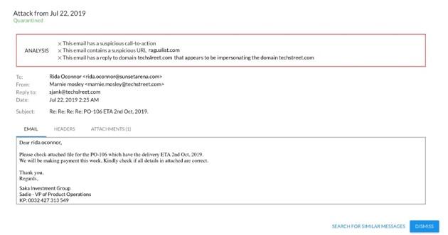 Barracuda_Esempio di hacker che si spacciano per dominio esterno