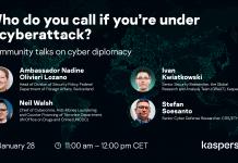 Kaspersky Community Talk #2 on Cyber Diplomacy